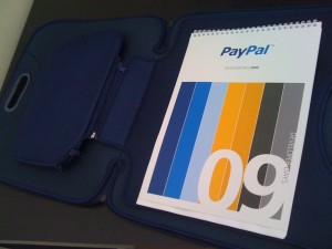 PayPal Developer Days Pack - Inside a Notebook Sleeve!